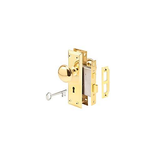 Gatehouse Brass Keyed Entry Door Handleset - Interior Mortise Lock