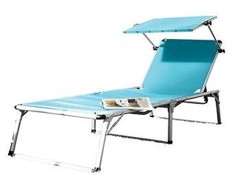 Florabest Chaise Longue Bain De Soleil De Jardin En Aluminium Avec