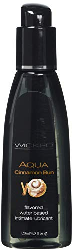 Wicked Lubes Sensual Care Aqua Lubricant, Cinnamon Bun, 4 Fluid Ounce (Best Cinnamon Roll E Juice)