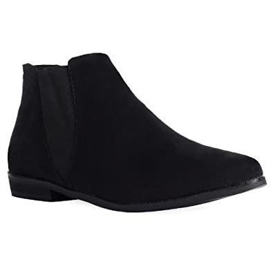 suede ankle boots flat