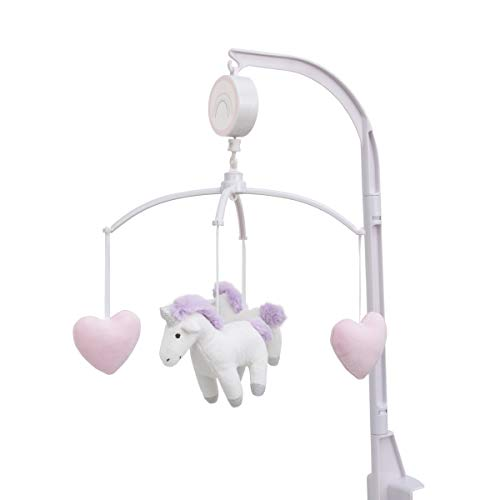 (Carter's Unicorn Snuggles Pink, White, Lavender Musical Mobile with Unicorns & Hearts, Pink, White, Lavender,)