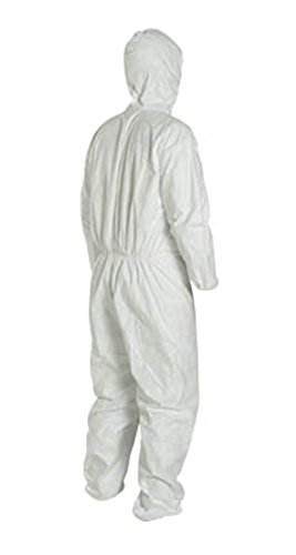 LG Tyvek Coverall W/ Hood, Zipper, Elastic Wrist & Ankle (LG-25 Suits / 1 Case) TY122S WH - LTY127S WH-LG-25-CASE by Tyvek (Image #2)