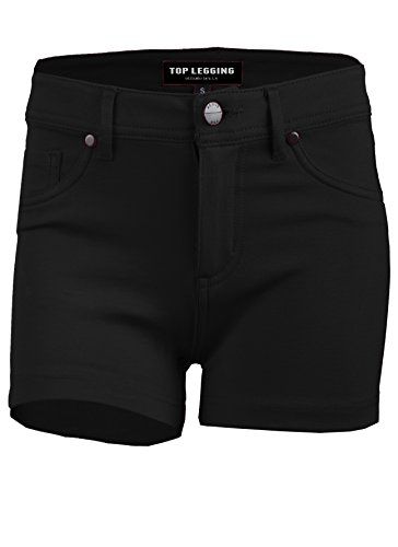 UPC 662578295549, TL Womens Trendy Basic Stretchy Casual Ponte Pocket Shorts in Multiple Colors BLACK LARGE