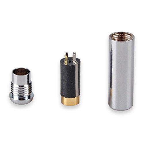 Silver 3.5 Mm Jack (Conwork 3.5mm 4 Pole Female Socket Repair Headphone Earphone Jack Stereo Audio Plug Jack Connector Soldering -Silver)