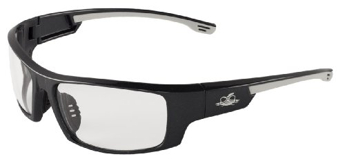 Bullhead Safety Eyewear BH991AF Dorado, Pearl Gray Frame, Clear Anti-Fog Lens, Black TPR Nose & White Temple Sleeve (1 - Side For Near Glasses Me Shields