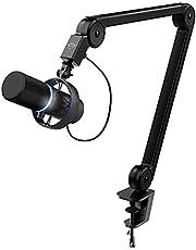 Trust Gaming GXT 255+ Onyx Professionele Microfoon met Arm, Cardioïde Opnamepatroon, Popfilter, USB, LED, voor Podcasten, Streamen, Opnemen, Uitzenden - Zwart