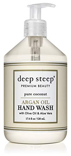 Deep Steep Coconut Oil Hand Wash, Pure, 17.6 Fluid Ounce