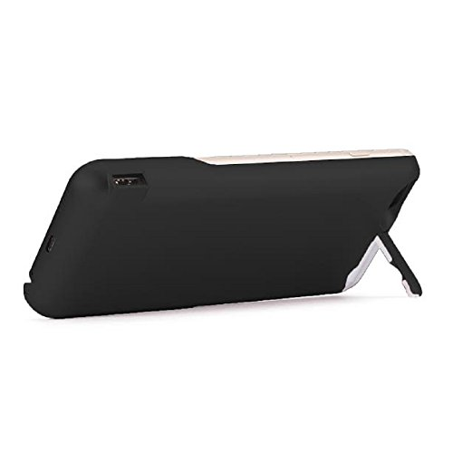iPhone 6 6S Battery Case, Ultra Slim Extended iPhone 6 Battery Case 6800mAh, External Portable Charging Case, High Capacity Battery Pack Bank Cover (Black) by PowerLocus (Image #1)