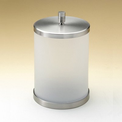 (Open Top Frozen Glass Trash Can Color: Satin Nickel)