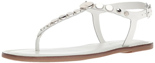 Bernardo Women's May Flat Sandal, White Antique Calf, 10M M US