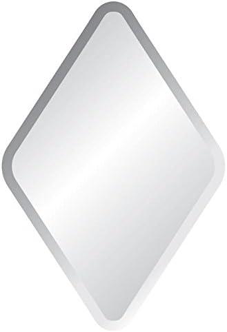 Spancraft 22 X 34 Diamond Frameless Bevel Wall Mirror