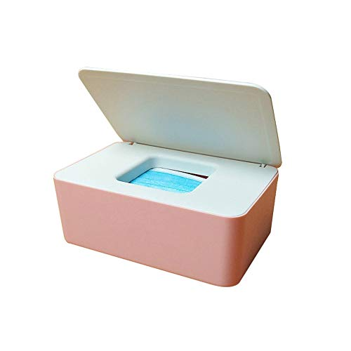 Baby Wipes Dispenser Baby Wipes Case Holder Keeps Diaper Wipes Fresh Non-Slip Wipe Container Three-Layer Seal Design Prevent Moisture Loss White