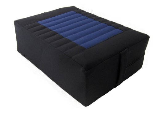 Tibetan Seat Meditation Cushion - Black-Blue
