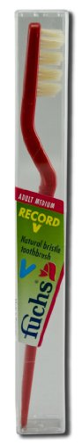 fuchs-adult-medium-record-v-natural-bristle-toothbrush-10-per-case