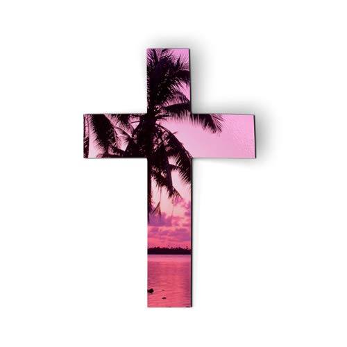 - AK Wall Art Cross Ocean Sunset - Magnet - Car Fridge Locker - Select Size