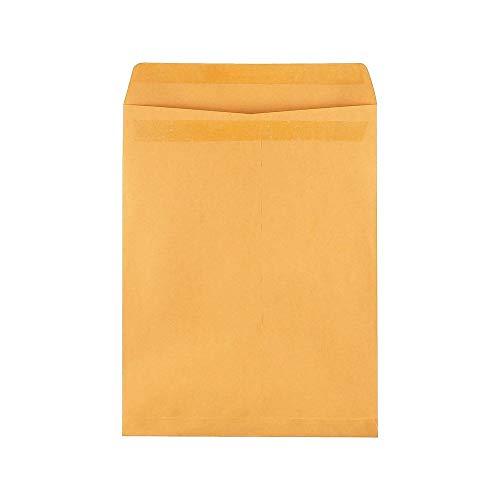 "Staples 534826 Self-Sealing Catalog Envelopes 12"" X 15-1/2 Brown Kraft 100/Box"