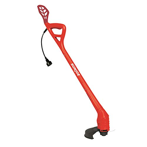 Sun Joe TRJ607E-RED 10-Inch 2.5 Amp Electric String Trimmer, Red