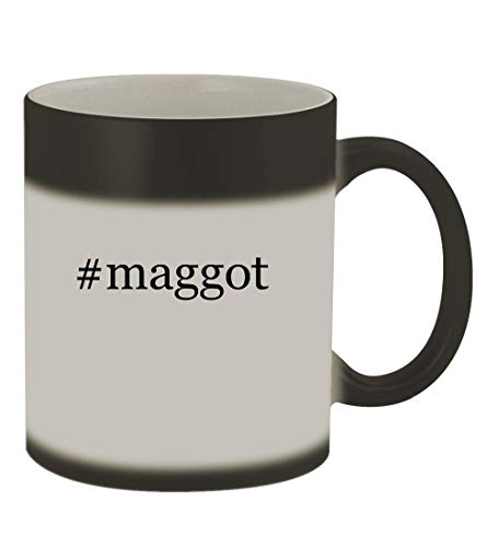 #maggot - 11oz Color Changing Hashtag Sturdy Ceramic Coffee Cup Mug, Matte Black]()