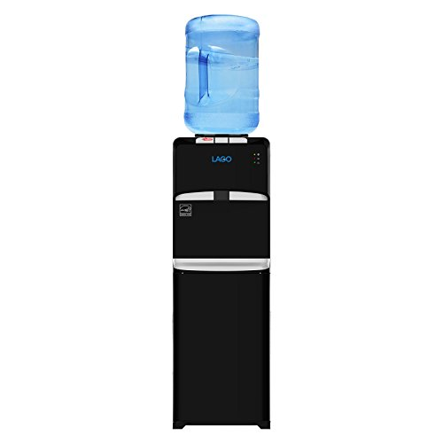 Lago Top Load Hot, Cold & Room Mini Black Water Cooler Dispenser by Lago