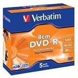 Verbatim 43510 - Dvd -R Mini 8Cm 1.4Gb 4X Pack 5