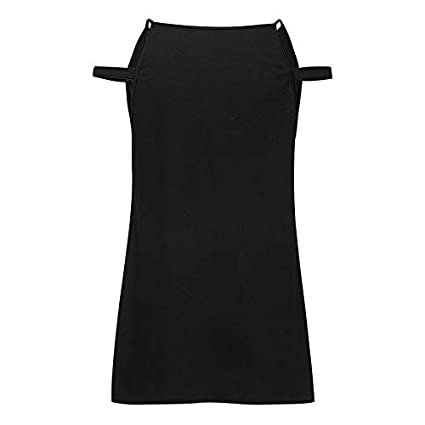 Women Summer Sleeveless Cold Shoulder Loose Fit Pullover Casual T Shirt Tops