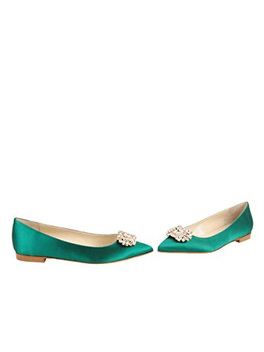 Butter Shoes Womens Chancey Flat Green QafY3J