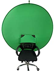 BOYXCO Gen2 Collapsible Portable Webcam Background Chroma Key Greenfor Video Chats, Zoom, Skype, Backdrop Video Calls, Chromakey (58 in)