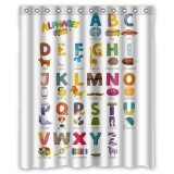 Custom ABC Alphabet Waterproof Polyester Fabric 60\