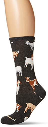 "Socksmith Womens Novelty Crew Socks ""Silly Billy"" - Charcoal Heather, Sock size 9-11"