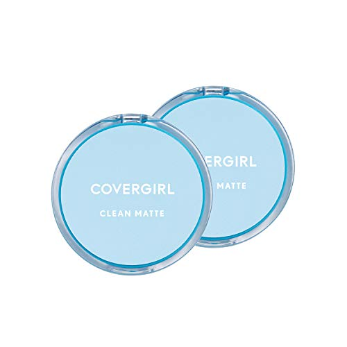 Covergirl Clean Matte Pressed Powder, Classic Ivory Warm Tone, 2 Count ()