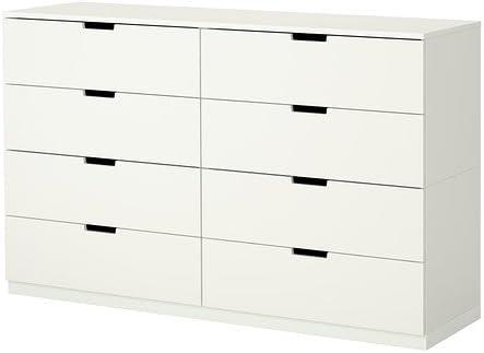 NORDLI white, Chest of 8 drawers