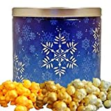 Snowflake Holiday Popcorn Gift Tin Small