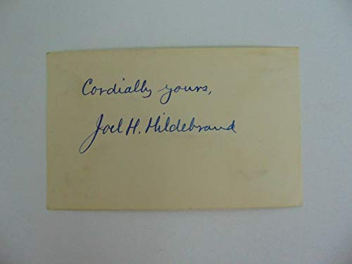"""Physical Chemist""Joel H Hildebrand Hand Signed 3X5 Index Card Todd Mueller COA from Unknown"