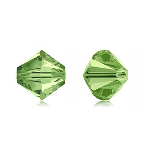 100pcs Genuine Preciosa Bicone Crystal Beads 3mm Peridot Green Alternatives For Swarovski #5301/5328 (Genuine Peridot Crystals)