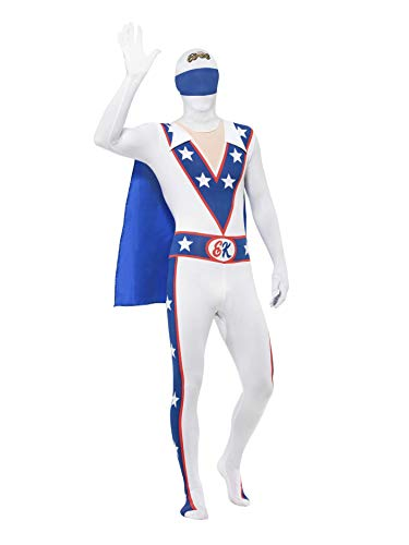 (Small White Evil Knievel Second Skin Fancy Dress)
