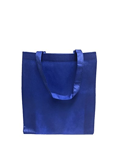 Reusable Convention - Conference Tote Bags Non Woven Bright Colors for Promotions, Giveaway Favors, Royal, Set of 100 - Promotional Gift Bags