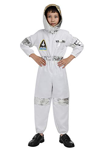 frawirshau Astronaut Costume for Kids Spaceman Dress Up Clothes for Boys Girls Toddlers Space Suit White S]()