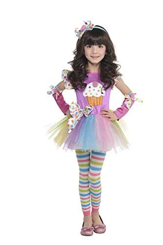 Girls Child Toddler Cupcake Cutie Costume (Girls MD (8-10))