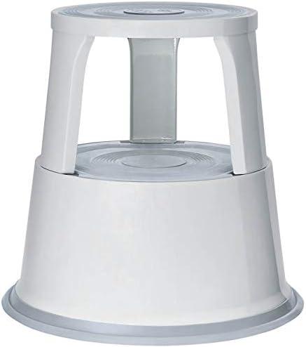 Wedo 212137 Tabouret marchepied mobile en métal Gris lumière