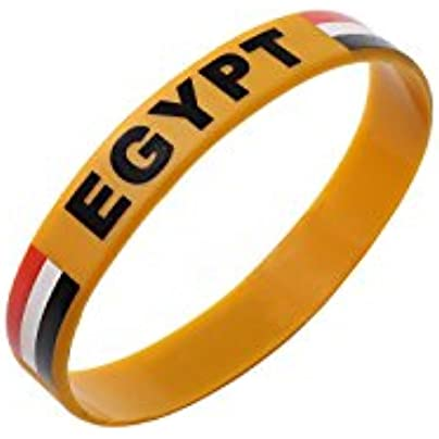 Komonee Egypt Brown World Cup Olympics Silicone Wristbands Pack 25 Estimated Price £14.99 -
