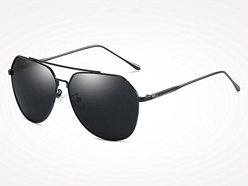 de Espejo gray Gafas polarizadas Sunglasses Hombres Masculinos Mujeres de Gafas Plata Negro TL Revestimiento Gafas Sol Hombres black de Sol piloto de para 4nBwP