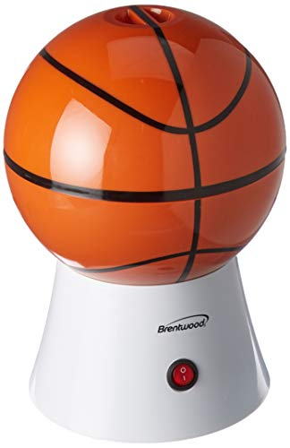 Brentwood PC-484 Appliances Basketball Popcorn Maker, Orange (Basketball Appliance)