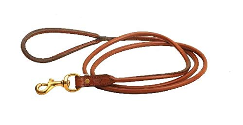 Tory Leather 6' Rolled Dog Leash - Oakbark by Tory Leather (Image #1)