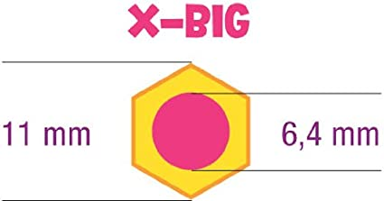 Jolly® SUPERSTICK X-BIG dicker Buntstift weiss extradick 6,4 mm Mine Kinderfest