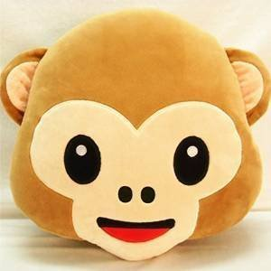 Jessie&Letty Lovely Monkey Pillow Cushion Monkey Pluch animal toy plush pillow cushion for kids giftd(Smily)