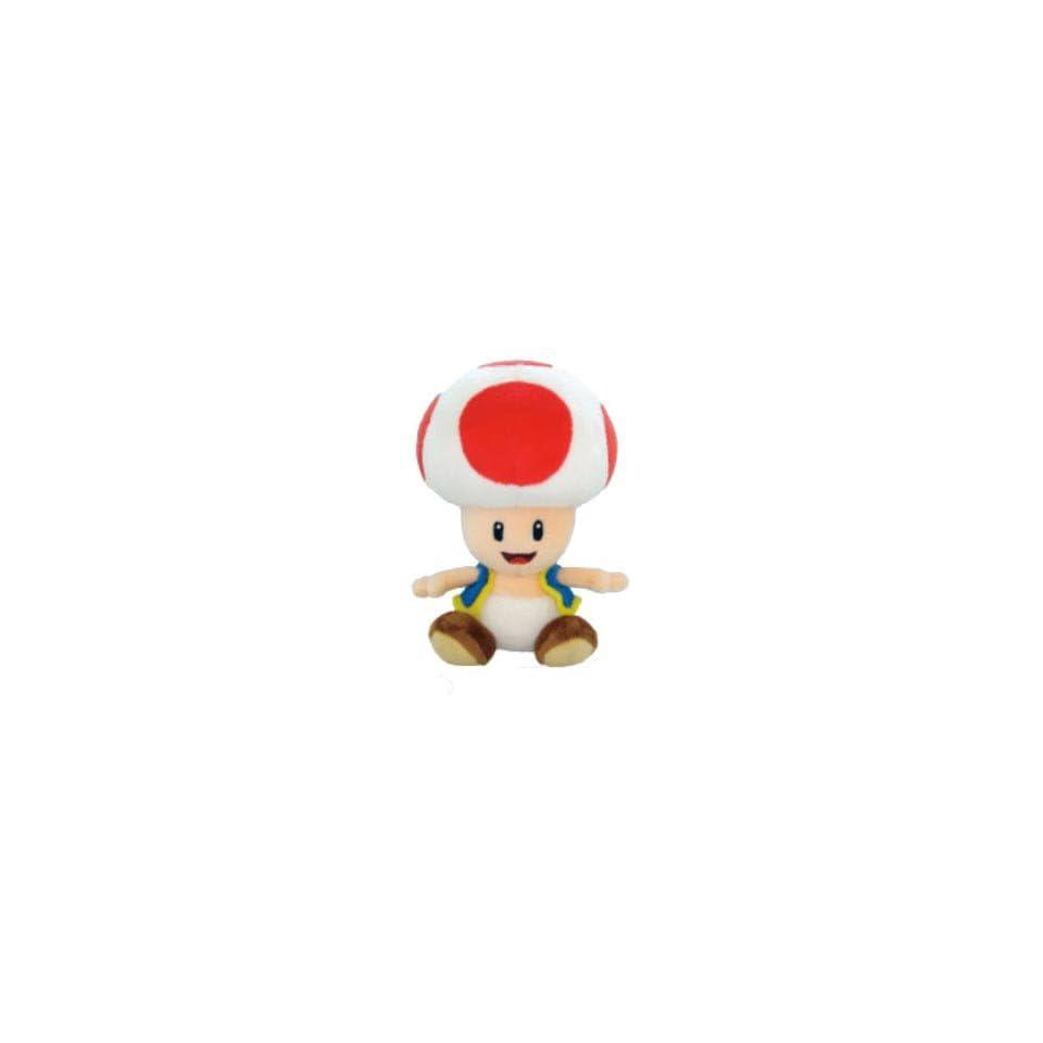 8 Inch Toad Mushroom Soft Stuffed Plush Toy   Japanese Import