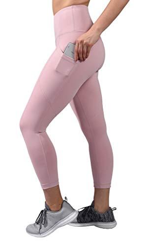 90 Degree By Reflex High Waist Squat Proof Yoga Capri Leggings with Side Phone Pockets - Shadow Petal - Small