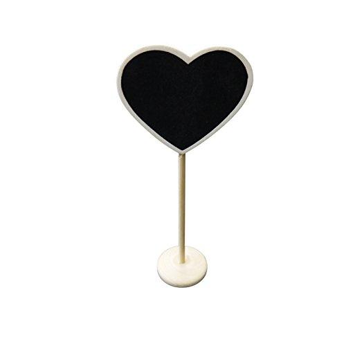 PaperLanternStore.com Heart Standing Wedding Chalkboard Sign Table Number Holder from Quasimoon