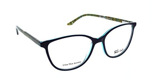 FABIO CIELO (#5851) Italian Design Eyeglasses 51mm, Elegant Ladies/ Women RX Prescription Optical Frames Authentic Glasses Includes Case, Design In Italy (Dark - Italian Glasses Design