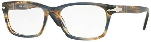 Persol PO3012V Eyeglasses 1049 Striped Brown Grey w/ Demo Lens 52mm